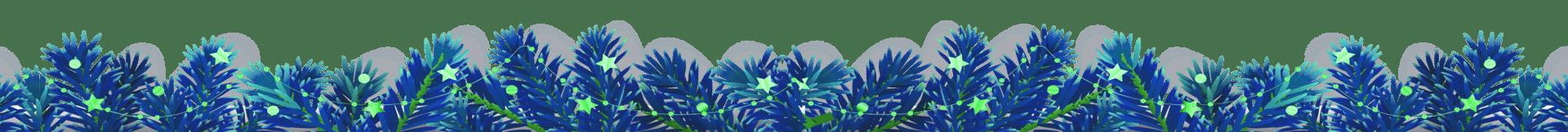 kerstversiering blauw