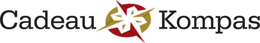 logo Cadeau Kompas rood goud